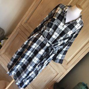 Old Navy Black &White Plaid Dress - Sz 3X